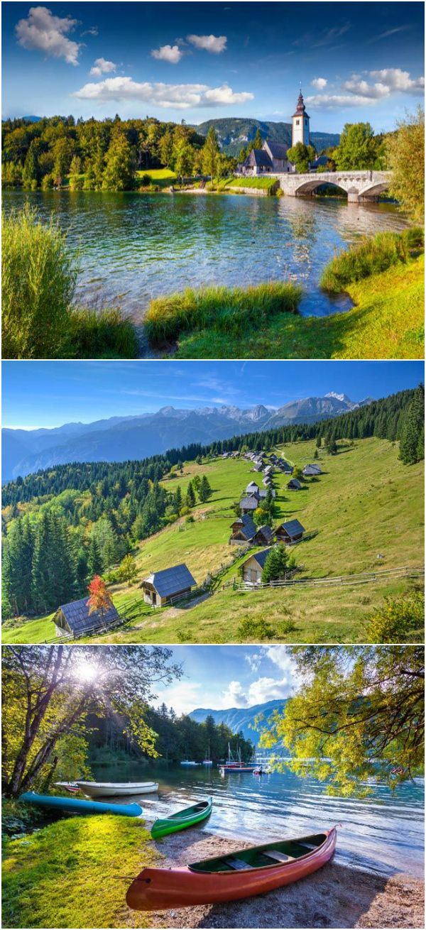 Slovenia's Lake Bohinj is a place frozen in time with untouched wilderness and quaint cottages.
