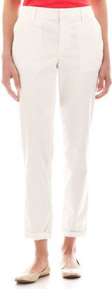 LIZ CLAIBORNE Liz Claiborne Roll-Cuff Twill Chino Pants - Tall - Shop for women's Pants - White Pants