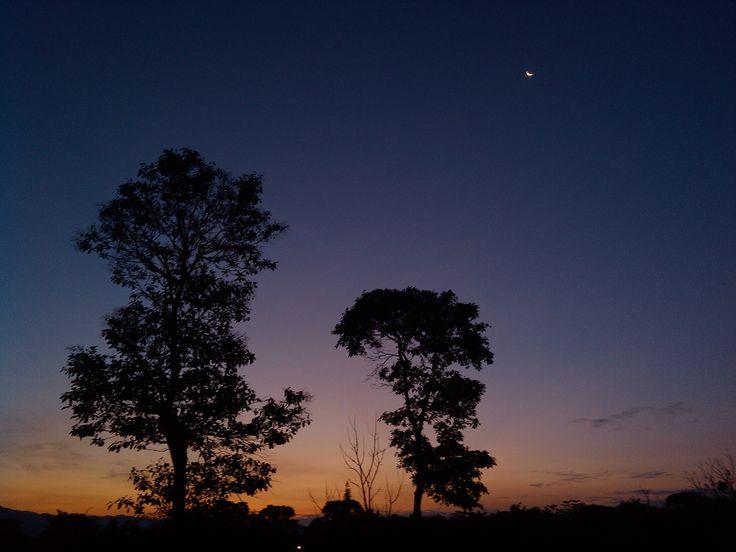 sunrise and moon by sebastian moreno