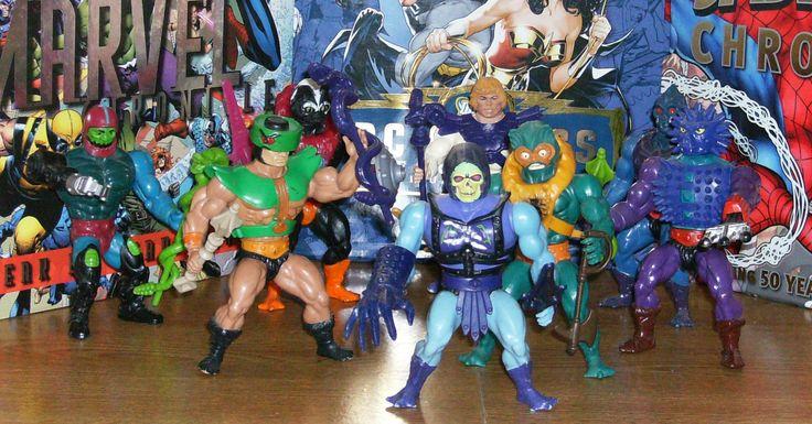 L to R: Trap-Jaw, Tri-Clops, Stinkor, Skeletor, Faker, Mer-Man, Webstor, Spikor.