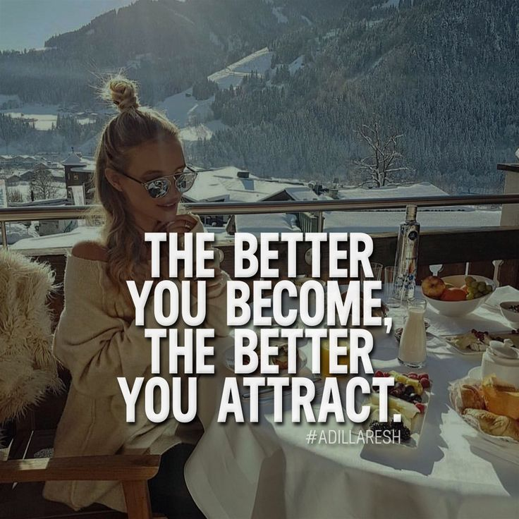 The better you become, the better you attract. Like and comment if you agree! ➡️ @sweartee for more!