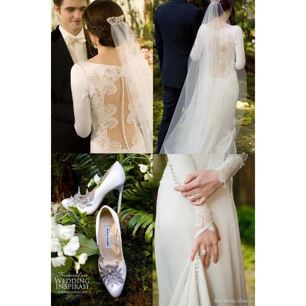 Details Of The Carolina Herrera Designed Gown Worn By Kristen Stewart Twilight Wedding Dress Back Bridal Feature A Row 152