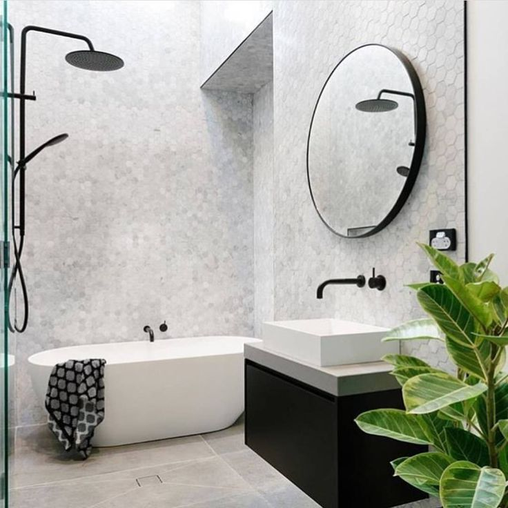 Bathroom love Those tiles and freestanding bath! Yes please! . . . . . . . . . . . rg via @theplumbette @den_interior_designs #mintempire #homewares #interiordesigninspiration #interiordecor #decor #homestyling #homestyle #interiors #indoorplants #baths #bathroom #bathroomstyle #interiorstyling #interiorstyle #homerenovation #renovations #perthlife #interiorinspiration #interiorinspo #instadesign #homedesign #interiordesigner #interiordesign #ensuite #homeinspiration #decorlovers...