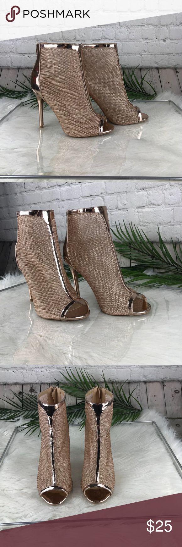 NWOT Champagne Colored Heels Super cute NWOT champagne colored heels . In a size 8 in women's Charlotte Russe Shoes Heels