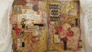 "Elen ArtCrafts: ""Post and Send""...mixed media art journal pages!"