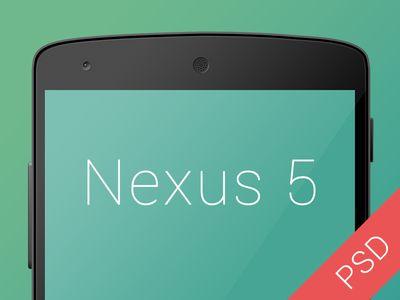 Free Nexus 5 PSD Mockup