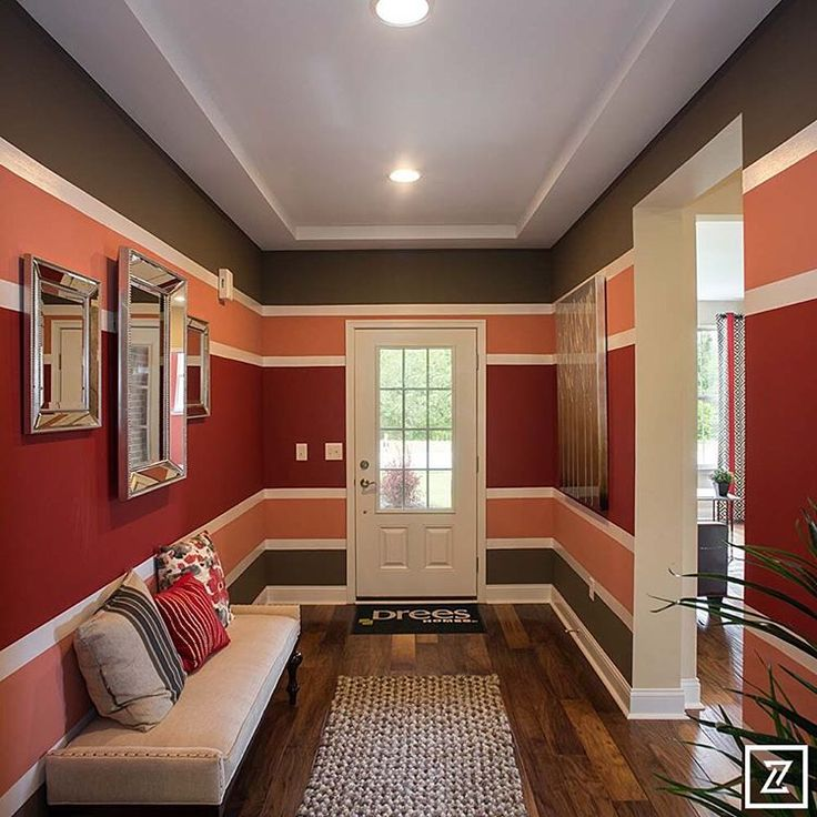 Multicoloured paint used for his hallway #shadesofroombyroompaintcolours
