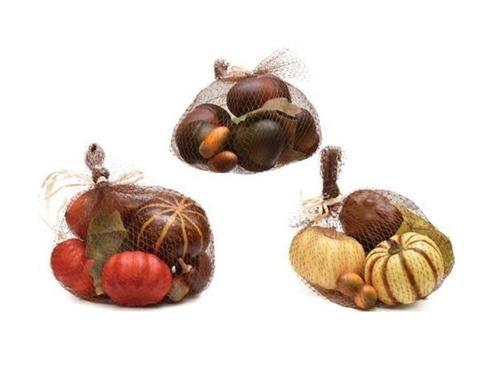 11-PC Autumn Harvest Artificial Pumpkin Gourd Acorn and Leaf Decoration Set
