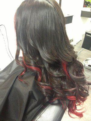 red peekaboos...wish my hair was longer