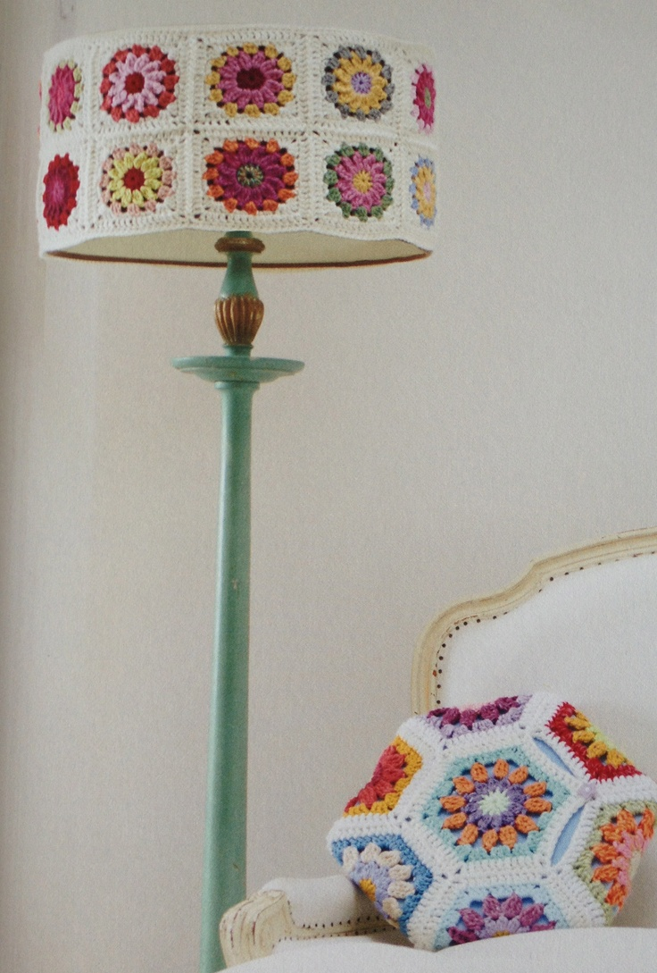 Gonna find me a standard lamp, paint it and then get crocheting...