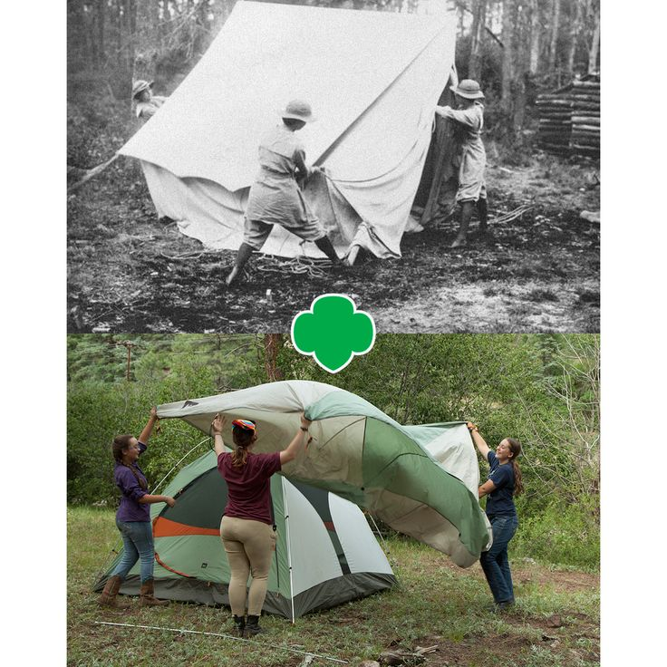 Pitching a tent like a pro- it's a Girl Scout thing!  #GirlScouts #Camp #Tents