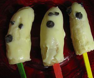 Chocolate Banana Ghosts