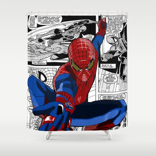 Spiderman Comic Shower Curtain