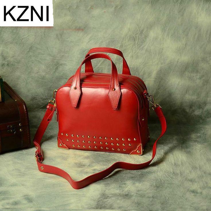 116.56$  Buy here - http://alif1k.worldwells.pw/go.php?t=32786761375 - KZNI famous brand genuine leather girls bag women crossbody bags for women bolsas femininas bolsas de marcas famosas L010329
