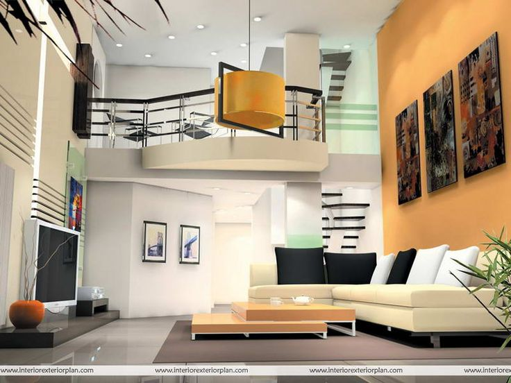 Living RoomModern High Ceiling Room With Nice Designs Design Yellow Drum Lamp Also Modular Coffee Table And Sectional