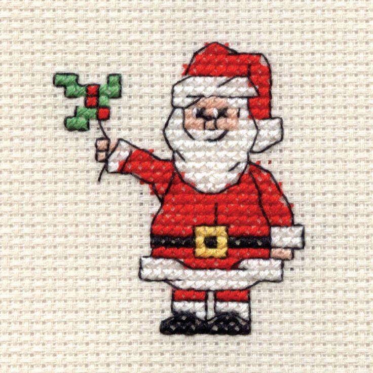 Hobbycraft Mini Christmas Cross Stitch Kit Santa | Hobbycraft