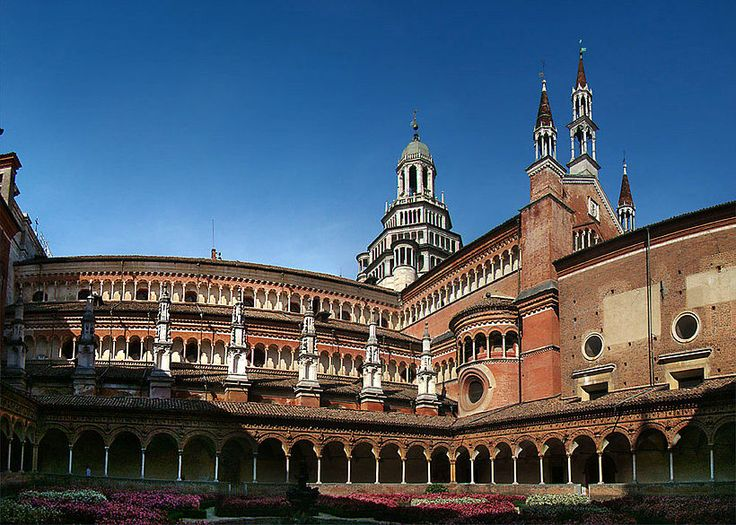 The Certosa di Pavia monastery complex in Lombardy, was built in 1396-1495.  In 1782, the Carthusians monks were expelled by Emperor Joseph II of Austria, and were succeeded by Cistercians in 1784 and then by Carmelites in 1789. In 1810 the monastery was closed until the Carthusians reacquired it in 1843. In 1866 it was declared a National Monument and sequestrated by the Italian State, although some Benedictines resided there until 1880. Cistercians were readmitted to it in the 1960s.