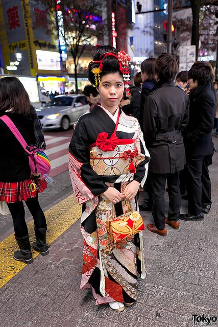 Traditional Look on Coming of Age Day | by tokyofashion