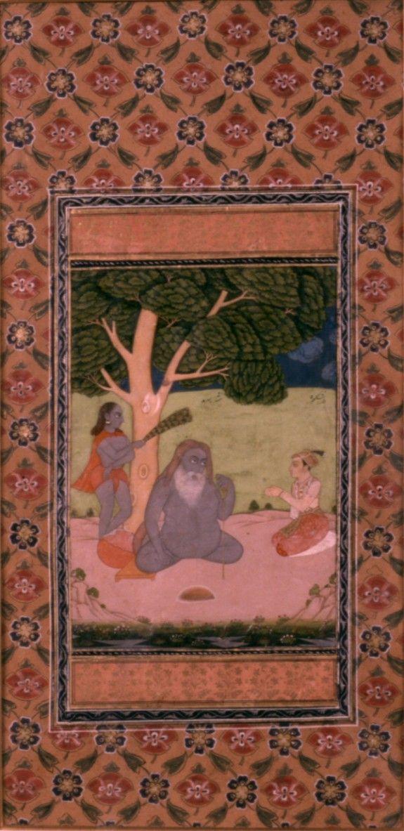 Single Leaf of Shah Sarmad and Prince Dara Shikoh, Indian 18th c