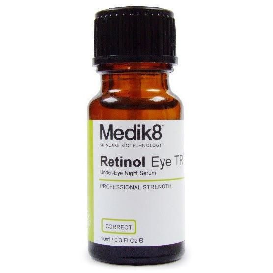 MEDIK8 Retinol Eye TR™ MEDIK8 RETINOL EYE TR - Advanced Eye Night Serum (0.1% Retinol) 10ml. Retinol Eye TR Time Release Vitamin A Serum. Retinol Eye TR is an advanced time-release vitamin A eye night serum. Contains highly stable, pure, encapsulated all-trans retinol at 0.1% concentration with a powder dry finish.  RETINOL EYE TR BENEFITS    Reduces appearance of fine lines and wrinkles  Helps speed up the natural peeling of dead skin cells   Retinol Eye TR is a supreme age-defence ser...