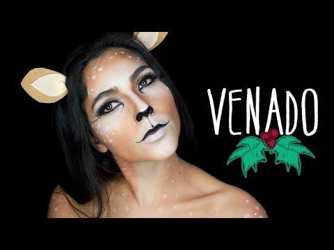 Maquillaje de Reno Venado - YouTube