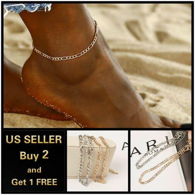 Silver Tassels Crystal Rhinestone Bead Chain Ankle Bracelet Foot Anklet Jewelry/&