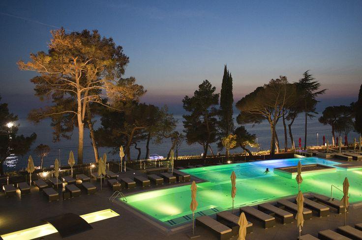Hotel Laguna Parentium night view #Porec #Croatia