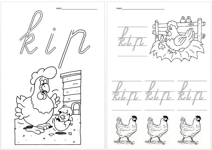 Schrijfblad VVL Kim versie kern 1 kip
