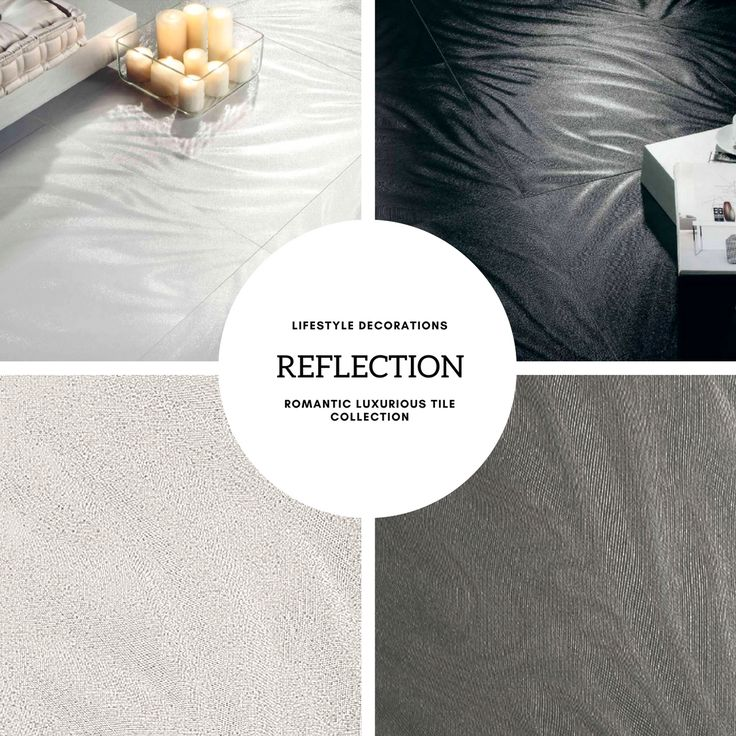 Romantic bath, bed, and living room tiles. The Reflection collection from Lifestyle Decorations. #3dtiles #texturedtiles #decorate #decoration #designinspiration  #design #designideas #decor