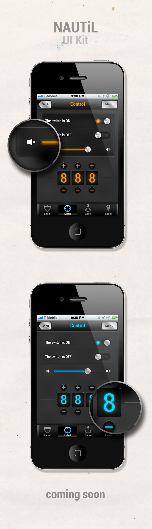 NAUTiL UI kit by Gabor Sandor Styt, via Behance
