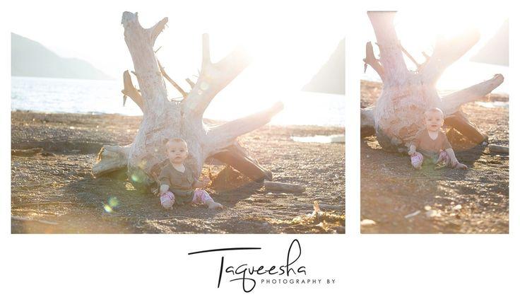 Kamloops Family Photographer, summer evening session. Beach family photos. Baby on the beach!