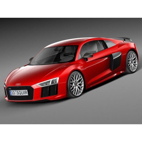 Gentil Audi R8 V10 Plus 2016   3D Model