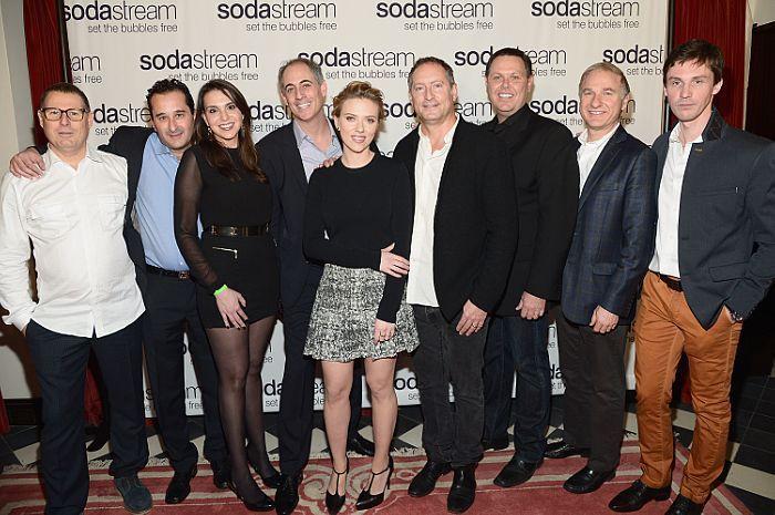 Scarlett Johansson and the SodaStream team