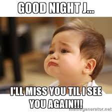 Good Night Baby Meme Images