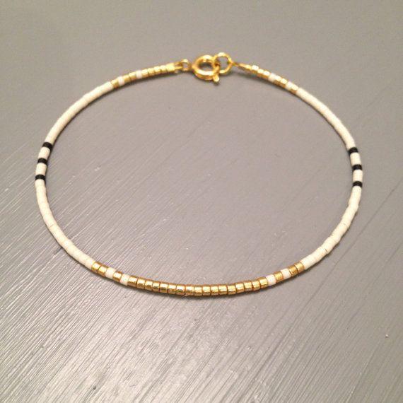 Dainty gold bracelet Elegant Slim Bracelet Dainty bracelet Gold filled Jewelry Black gold bracelet – j e w e l r y