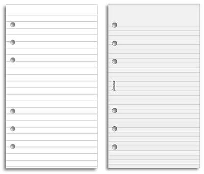 Моя жизнь в одном месте: Filofax Личная страница примечание вставки для пользователей почтовой бумаги