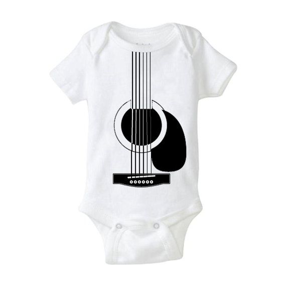 Guitar Baby Cool Baby Shower Gift Country Blue Grass Music Cute Funny Play the baby Awesome Baby Gift Boy Girl Neutral Country Natural Chill