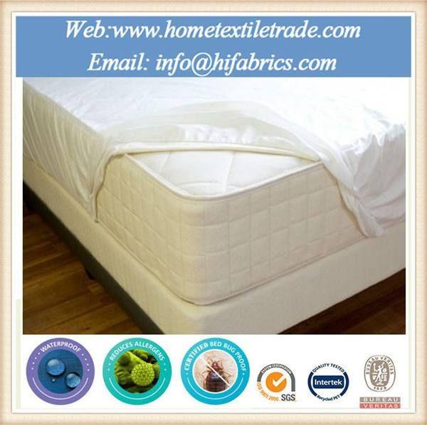 White Twin Size Mattress Cover Protector Vinyl Sheet Waterproof In Muar