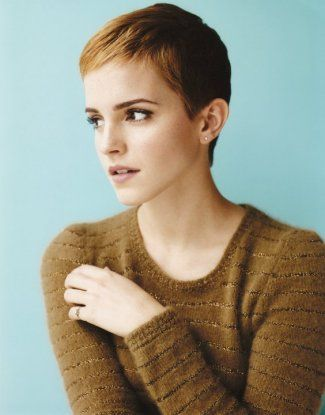 Super Short Pixie Cuts | ... with this photo of Emma Watson. I love her chic…