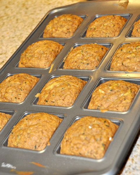 Zucchini Bread (low fat, low calorie). I like this for portion control.