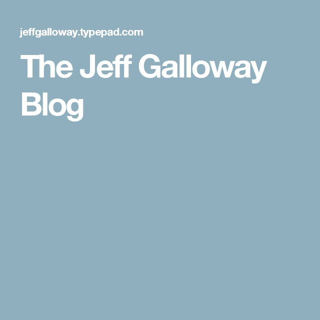 The Jeff Galloway Blog