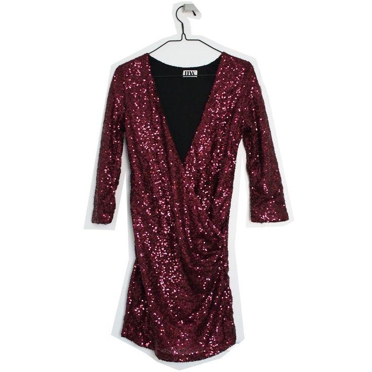 Red sequin dress, XS - Remarket / ida365