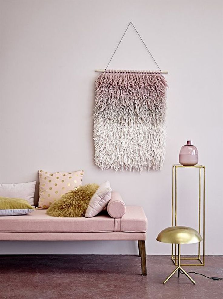Dusty pink ombre wall hanging from Home Place. 'For the Love of Wall Hangings' - See more at tigerlillyquinn.com.