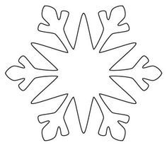 Snowflake Cutout Patterns | Decorating Tools: scissors, fabric glue, glue gun.