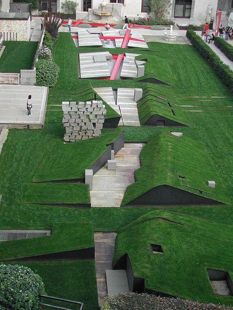 eisenman: Il giardino dei passi perduti, museo di castelvecchio verona, 2004