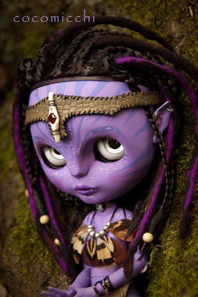 Purple love by cocomicchi, via Flickr  #doll #blythe #avatar #custom