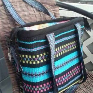 Bag from Inkle Bands #weaving #inkle