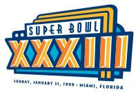Super Bowl XXXIII | Super Bowl XXXIII was an American football game played between the American Football Conference (AFC) champion Denver Broncos and the National Football Conference (NFC) champion Atlanta Falcons to decide the National Football League (NFL) champion for the 1998 season. The Broncos defeated the Falcons by the score of 34–19, winning their second consecutive Super Bowl. The game was played on January 31, 1999, at Pro Player Stadium in Miami (now part of the suburb of Miami…