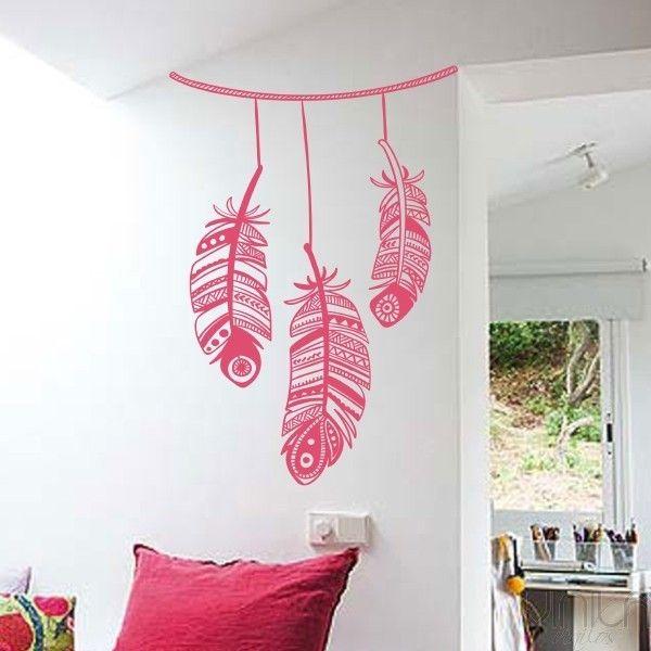 Decora tu pared con este original vinilo decorativo - Plumas para decorar ...