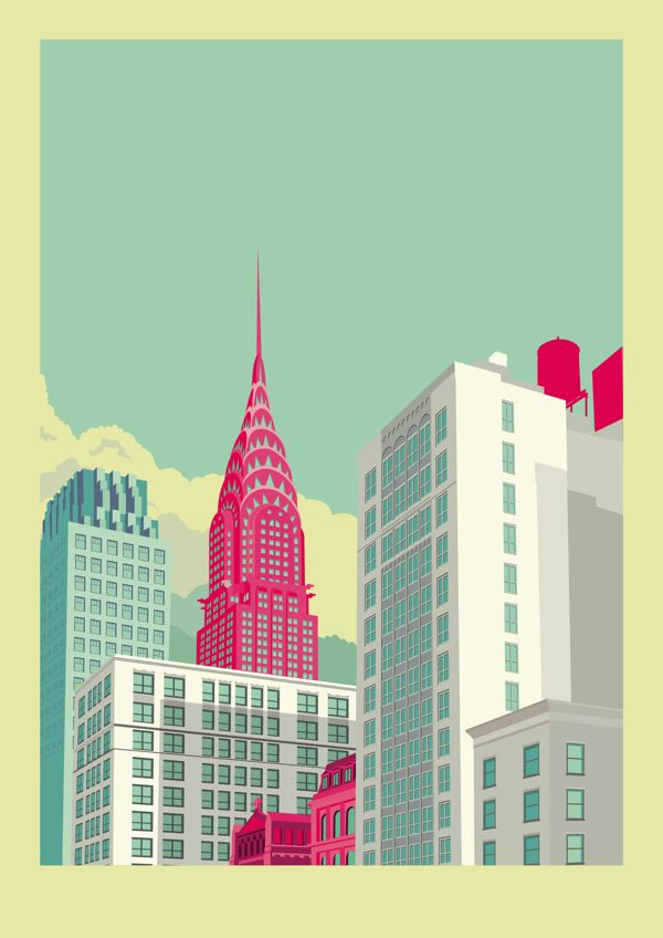 AphroChic: New York Skyline Illustrations By Remko Heemskerk